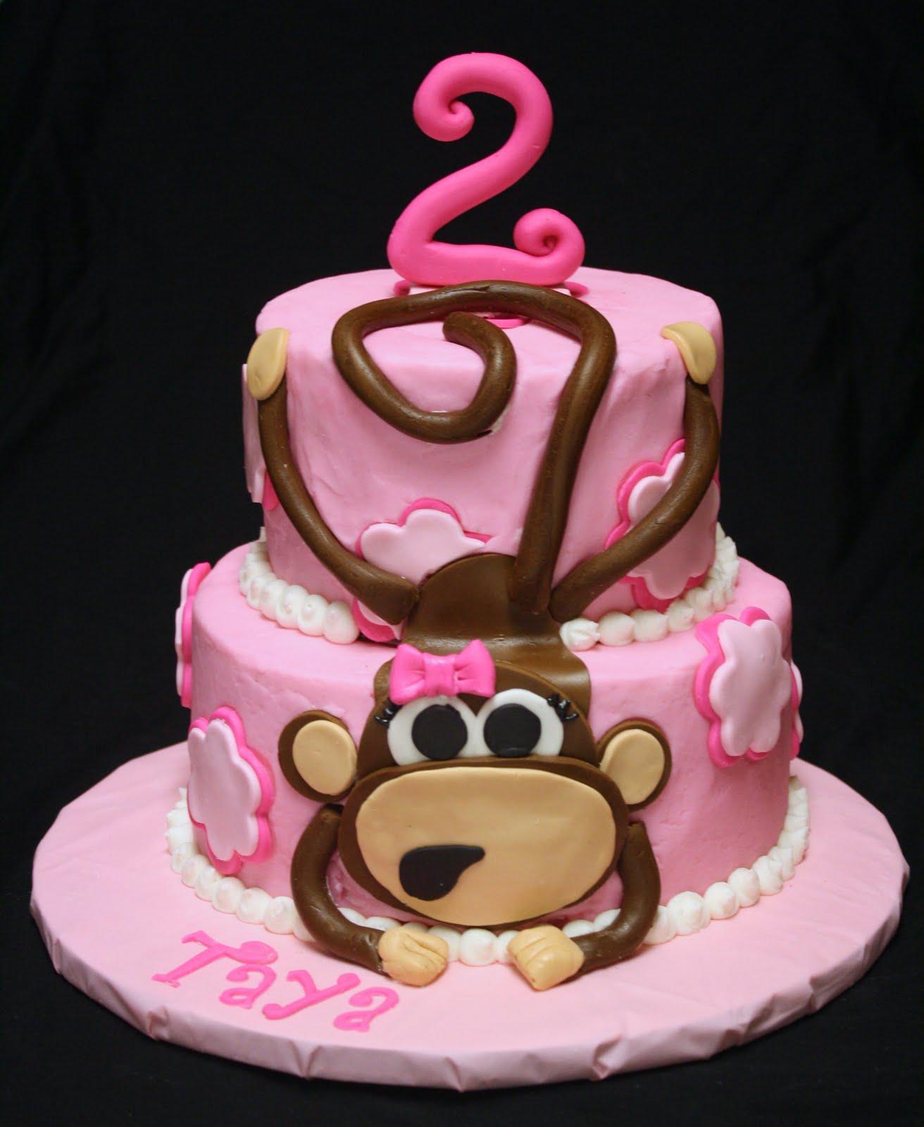 Pleasing 7 Cakes With Monkeys On It Photo Monkey Birthday Cake Monkey Personalised Birthday Cards Paralily Jamesorg