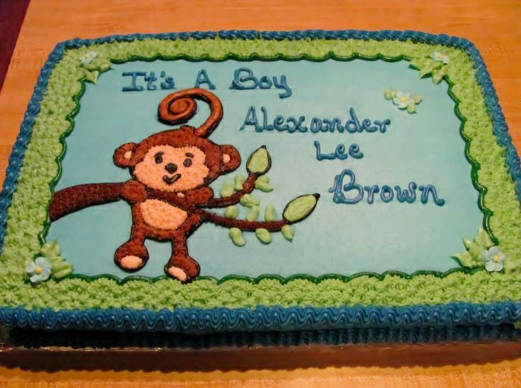 Baby Shower Monkey Images ~ Buttercream monkey cakes for boys photo monkey birthday cake
