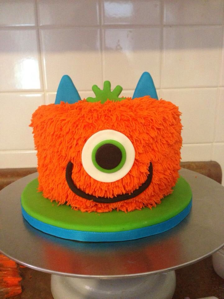 12 Boys Monster Cakes Photo Monster Birthday Cake Ideas Monster
