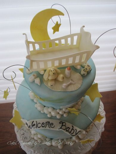 9 Baby Shower Cakes Boy Stars Photo Baby Shower Cake Moon Moon