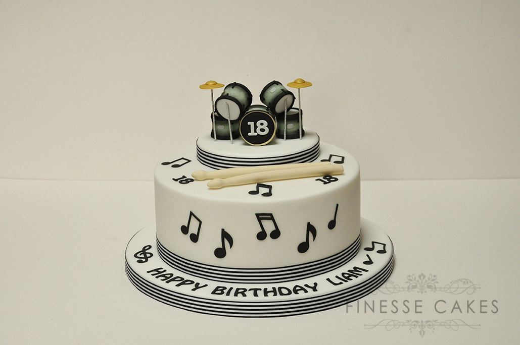 13 Happy Birthday Music Cakes For Men Photo Microphone Birthday
