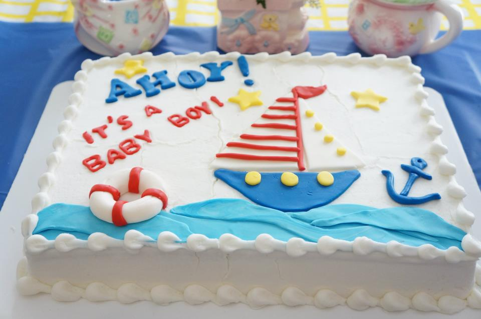 Sheet Cake For Baby Boy Shower