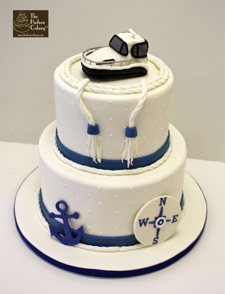 12 Anchor Themed Wedding Cakes Photo Nautical Themed Wedding Cake