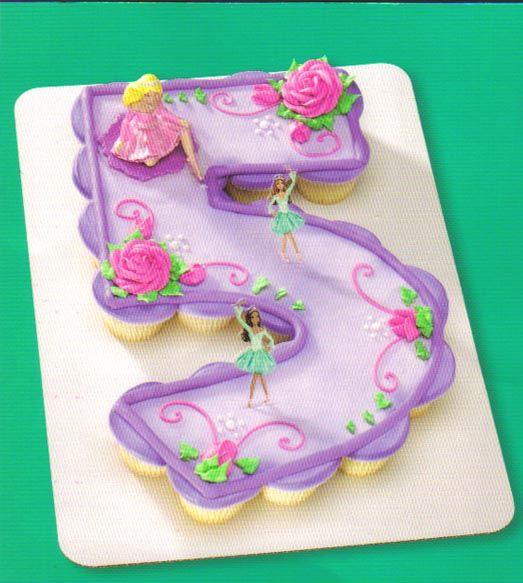 Number 5 Cupcake Cake