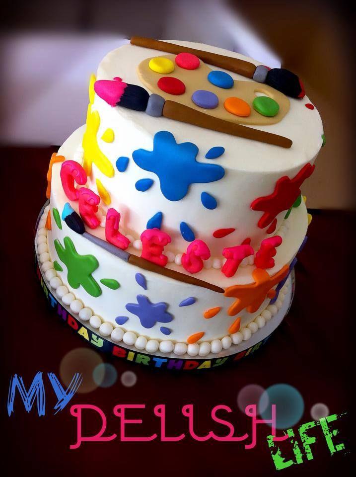 Paint Artist Birthday Cake