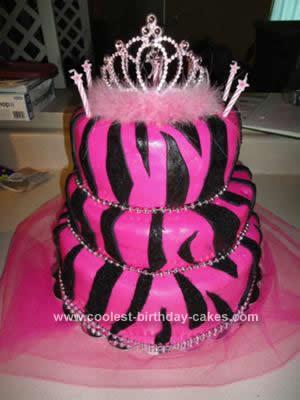 10 Photos of Cool Zebra Print Cakes