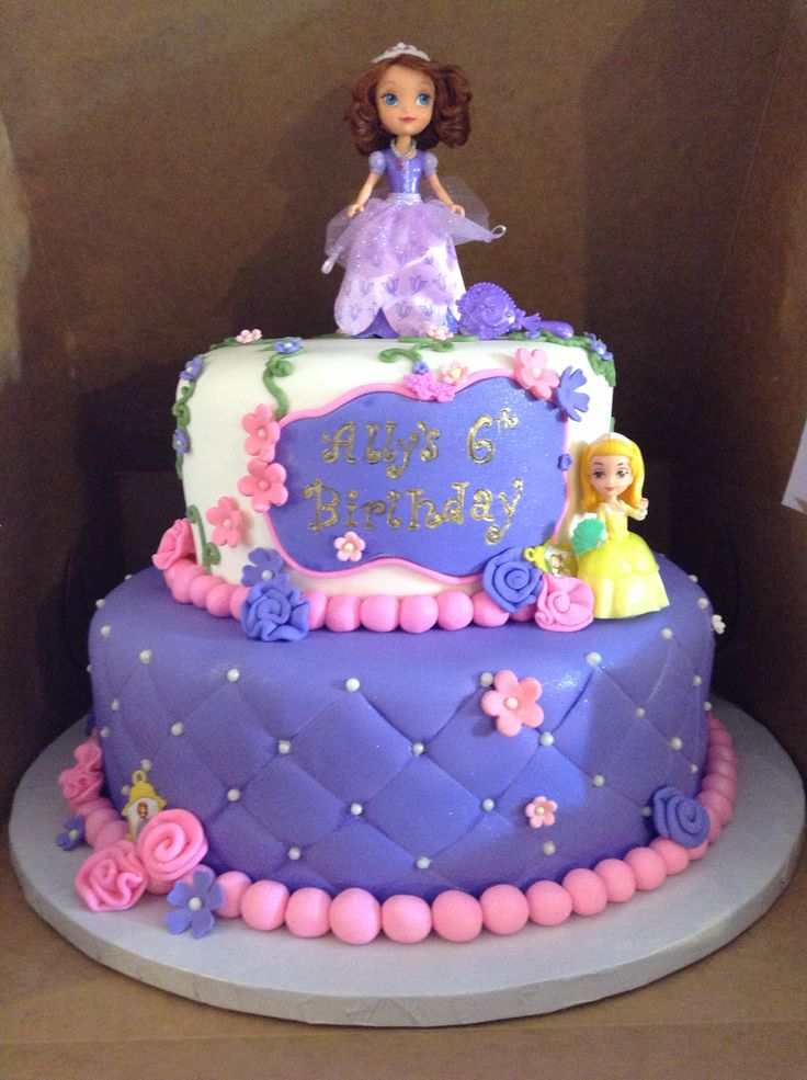 Fabulous 8 Sofia The First Birthday Cake And Cupcakes Photo Sofia The Personalised Birthday Cards Paralily Jamesorg
