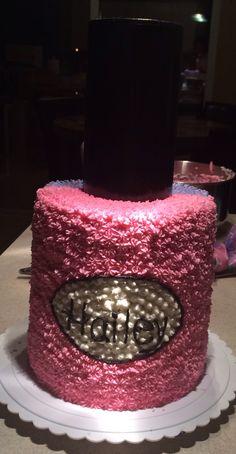 Spa Nail Polish Birthday Cake