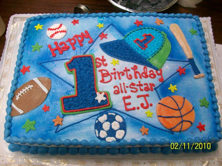 9 Professional Sports Themed Sheet Cakes Photo SportsThemed