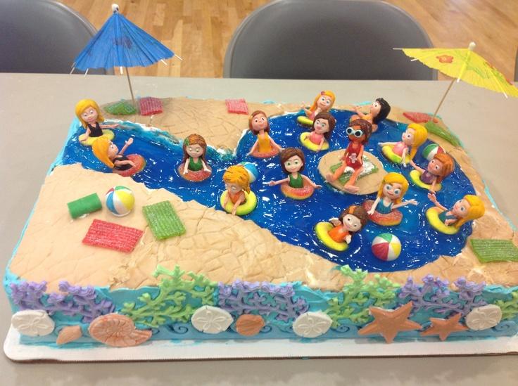 11 Pool Birthday Cakes 9 Photo Swimming Pool Party Birthday Cake