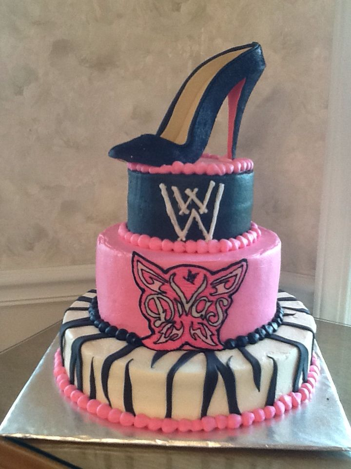 Incredible 10 Wwe Superstars Birthday Cakes Photo Wwe Divas Birthday Cake Funny Birthday Cards Online Inifodamsfinfo