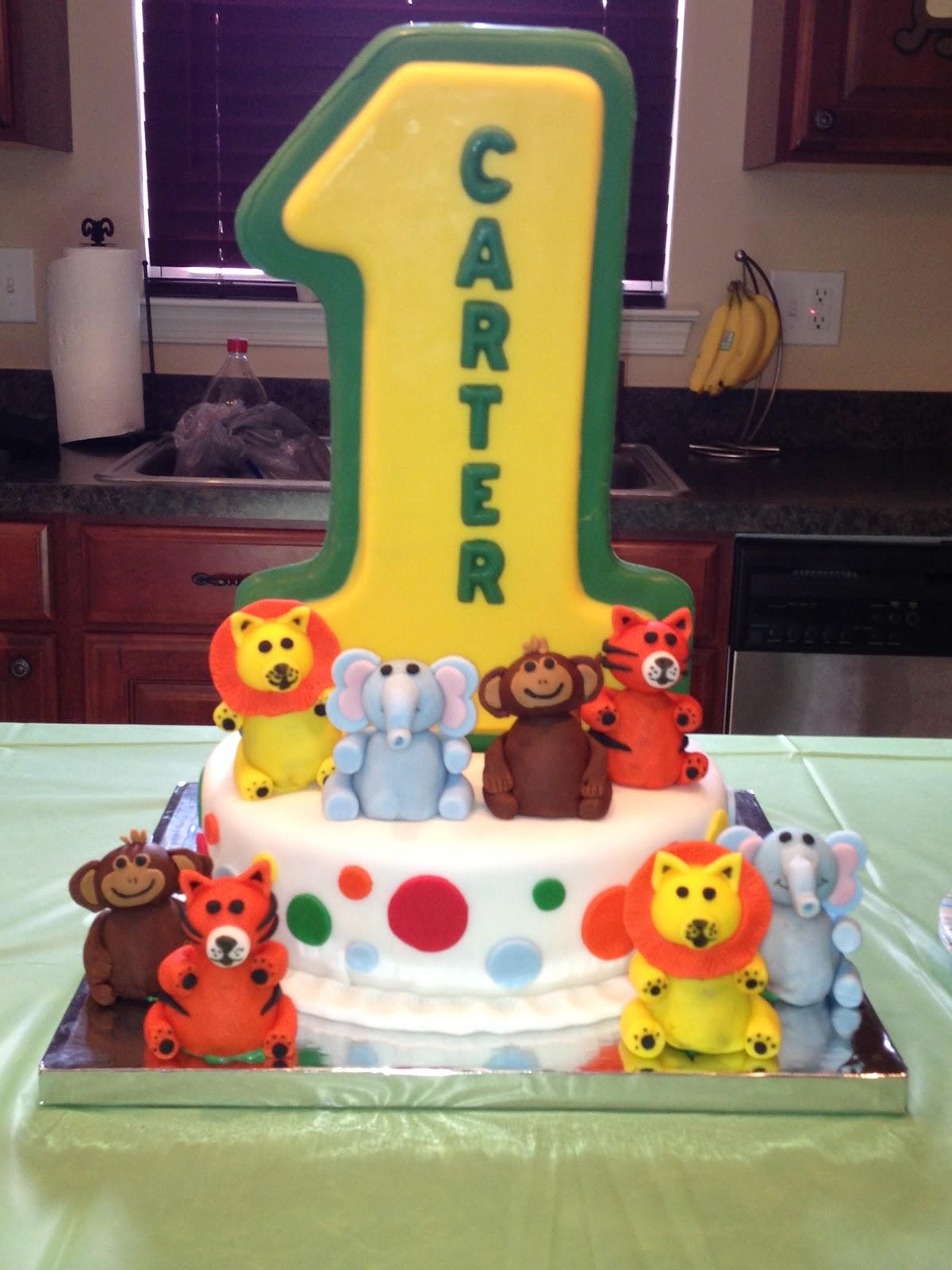 13 Zoo Animals First Birthday Cakes Photo Zoo Animal Birthday Cake