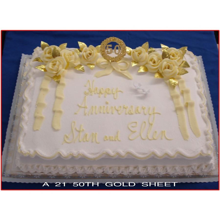 50th Anniversary Sheet Cake Ideas