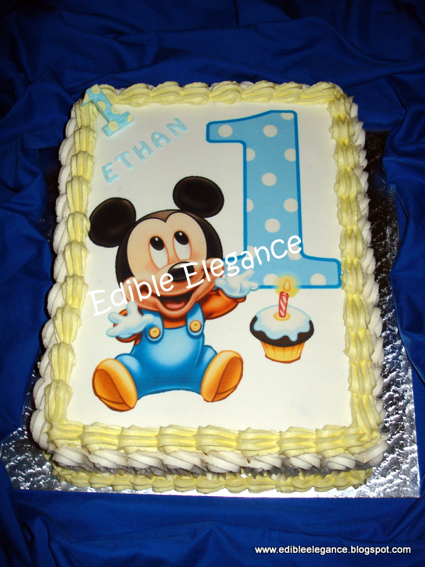 Awesome 12 First Birthday Baby Mickey Mouse Cakes And Capcakes Photo Funny Birthday Cards Online Necthendildamsfinfo