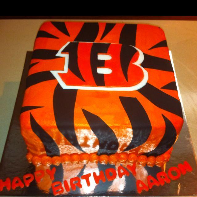 Magnificent 12 Cincinnati Bengals Cupcakes Ideas Photo Cincinnati Bengals Personalised Birthday Cards Paralily Jamesorg