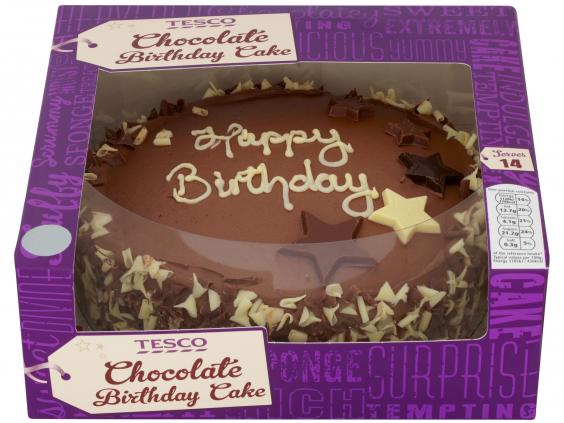 Birthday Cake Via Tesco Cakes