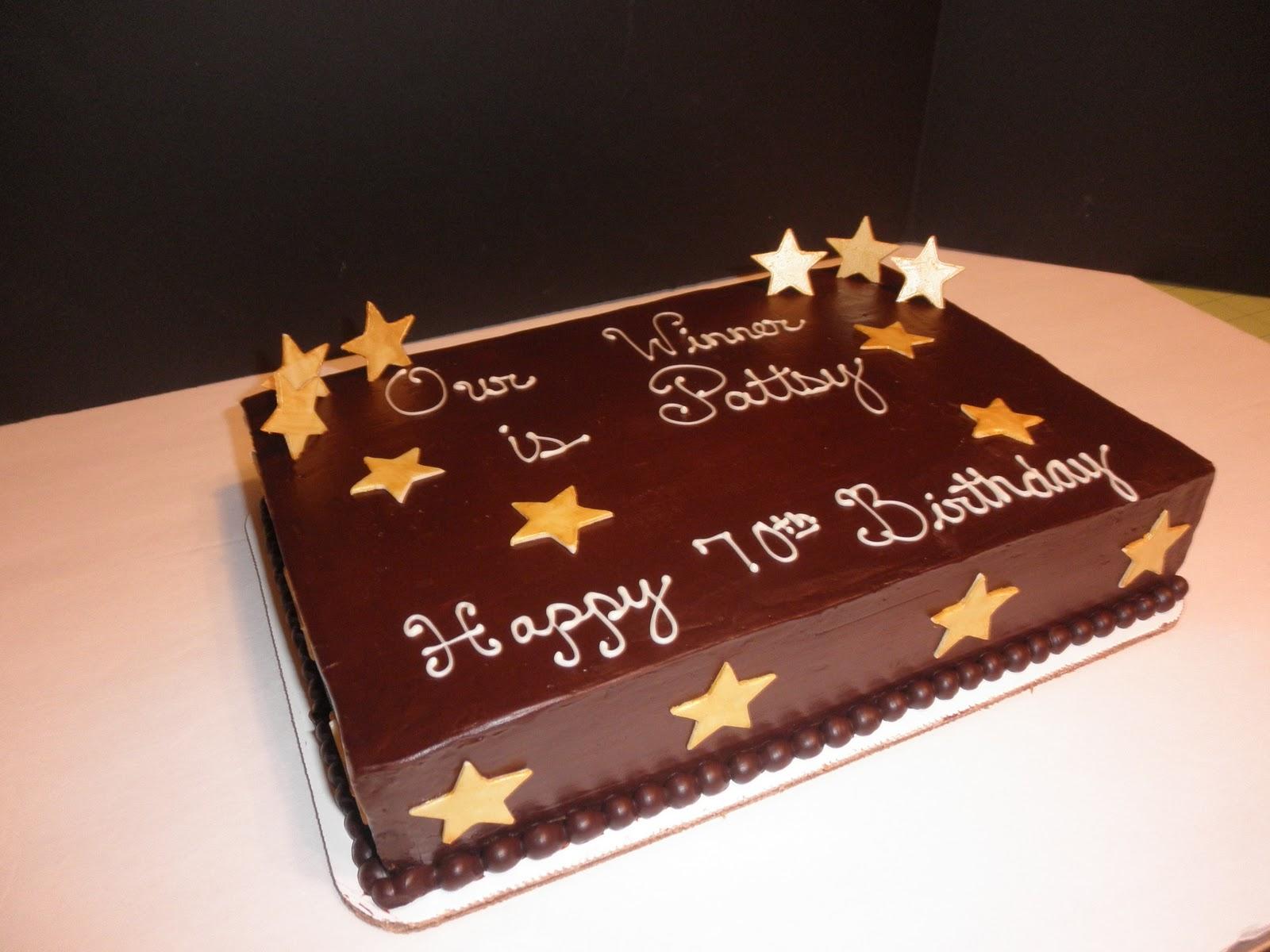 6 Decorated Birthday Sheet Cakes Chocolate Icing Photo Chocolate