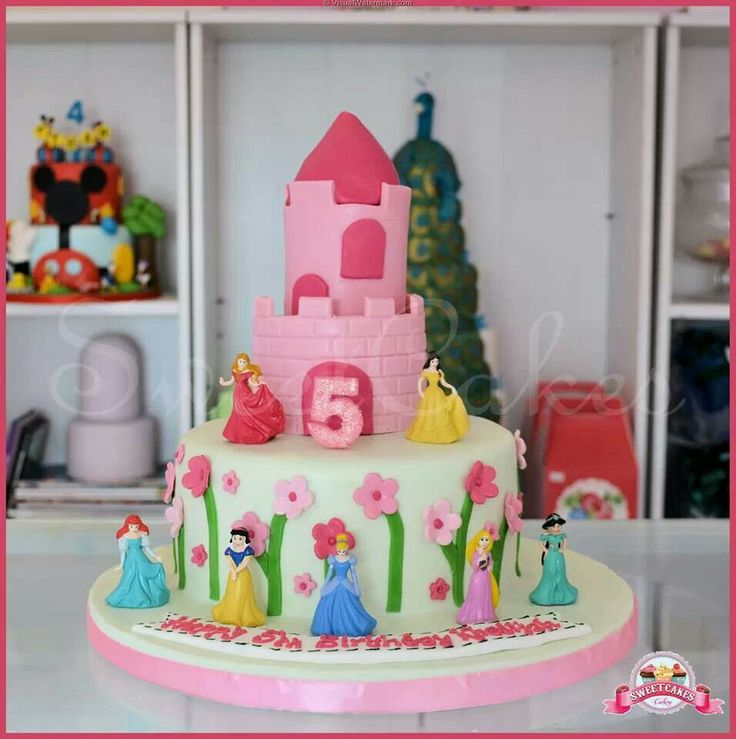 6 Disney Princess Mini Cakes Photo Disney Princess Mini Doll Cakes