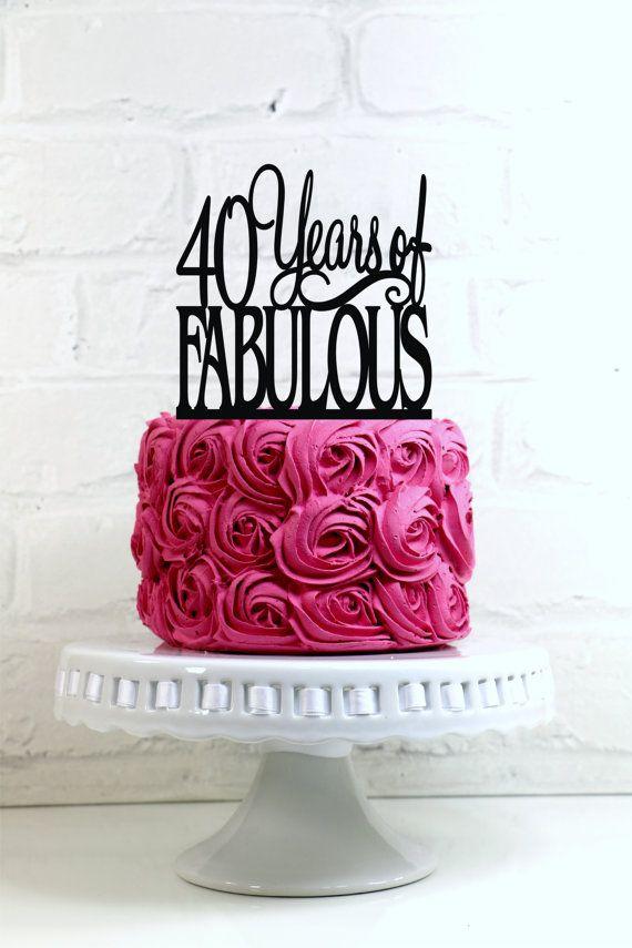 Fabulous 40 Birthday Cake