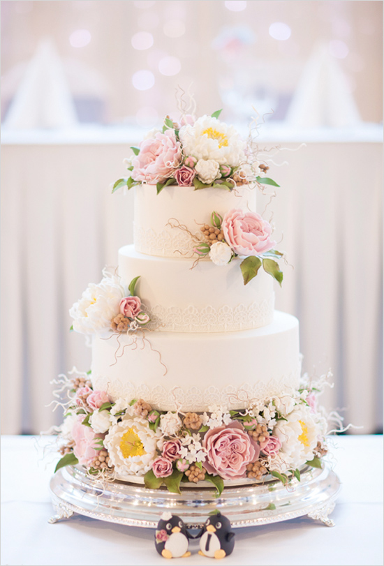 Rustic Garden Wedding Cake