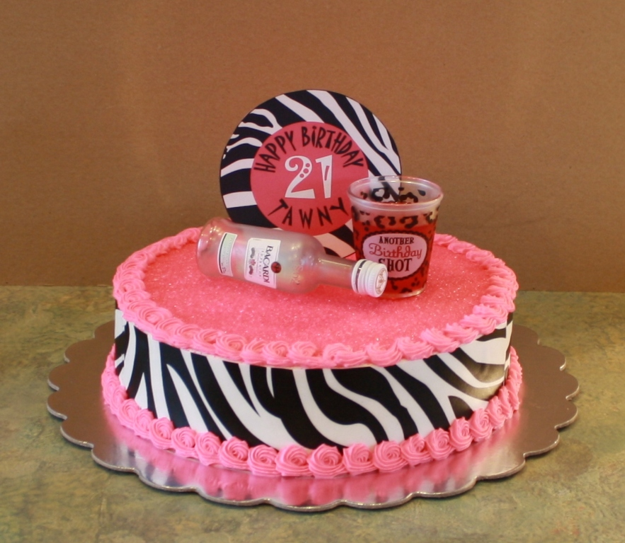 Sensational 7 Zebra 21 Birthday Cakes Photo Girl Birthday Cakes Zebra Print Funny Birthday Cards Online Alyptdamsfinfo
