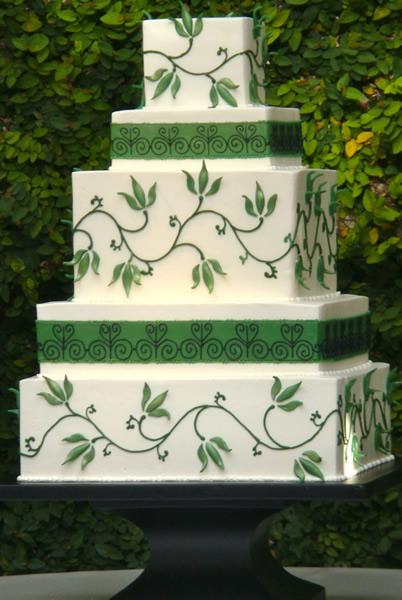 9 Hunter Green And Black Wedding Cakes Photo Green Wedding Cake