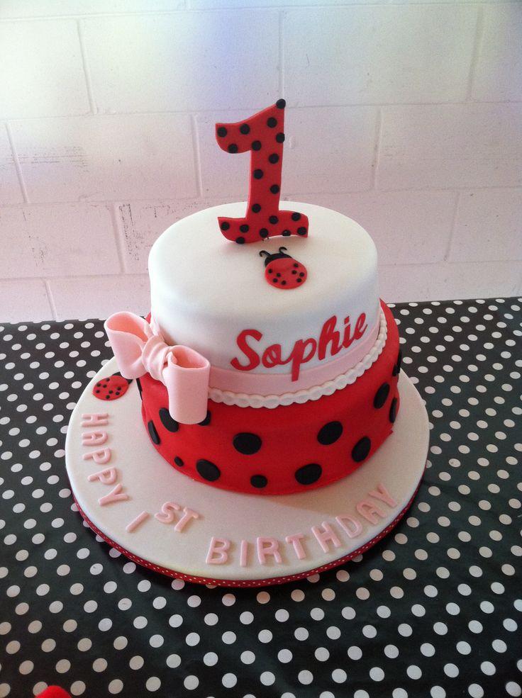 Groovy 6 Ladybug Girl First Birthday Cupcakes Photo Ladybug First Personalised Birthday Cards Cominlily Jamesorg