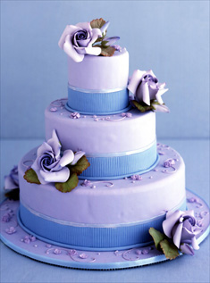 6 Light Blue And Purple Wedding Cakes Photo Light Blue And Purple