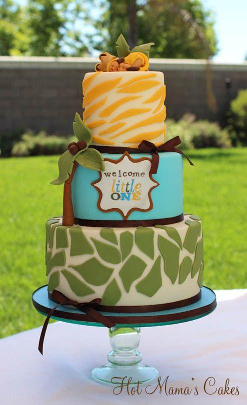 7 Krazy Kool Cakes Baby Shower Photo Jungle Theme Baby Shower - Lion King Wedding Cake