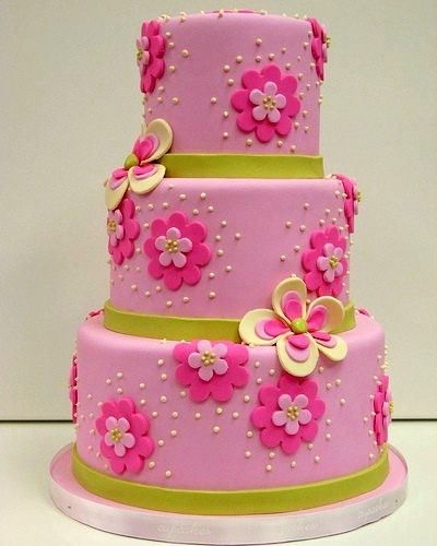 10 Pink Little Girls Birthday Cakes Photo Little Girl Pink