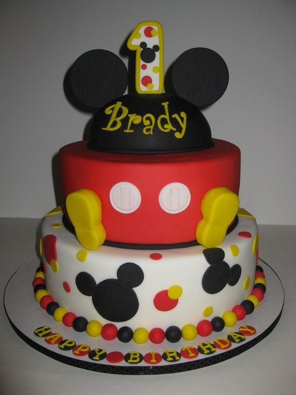 12 First Birthday Baby Mickey Mouse Cakes And Capcakes Photo