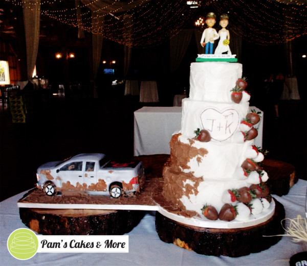 wedding cake with truck and mud truck slinging mud wedding cake 5000 simple wedding cakes 26977