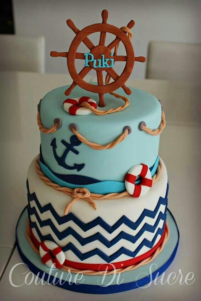 9 Marine Theme Cakes Photo Nautical Baby Shower Cake Nautical