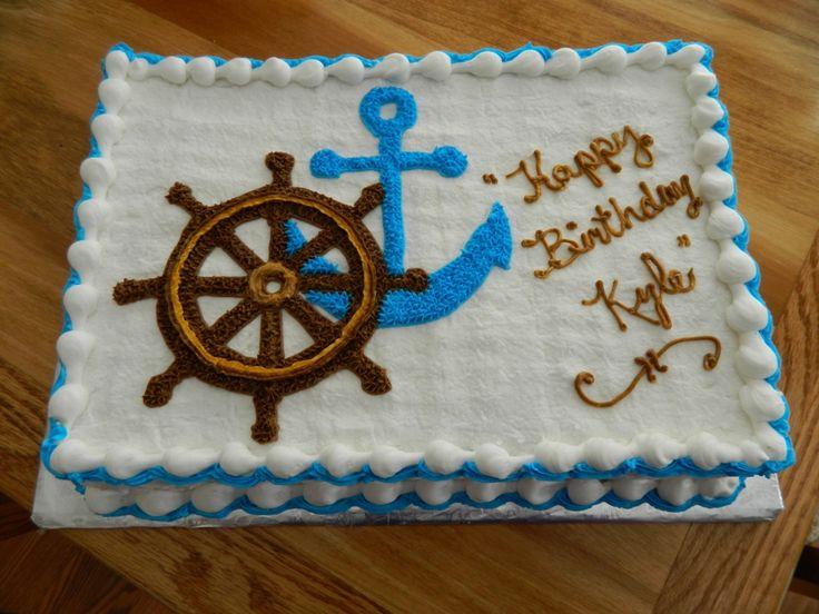13 Baby Nautical Sheet Cakes Photo Nautical Baby Shower Sheet