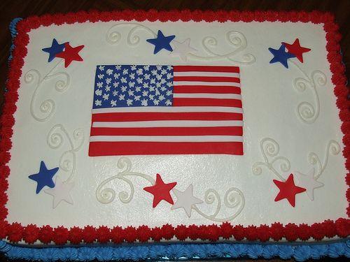 9 Fourth Of July Birthday Sheet Cakes Photo Patriotic Birthday