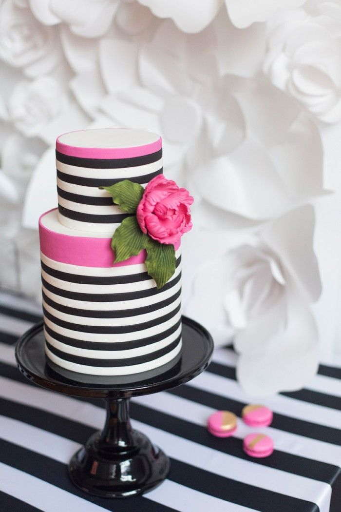 13 Blue And Black And White Striped Cakes Photo Blue And White