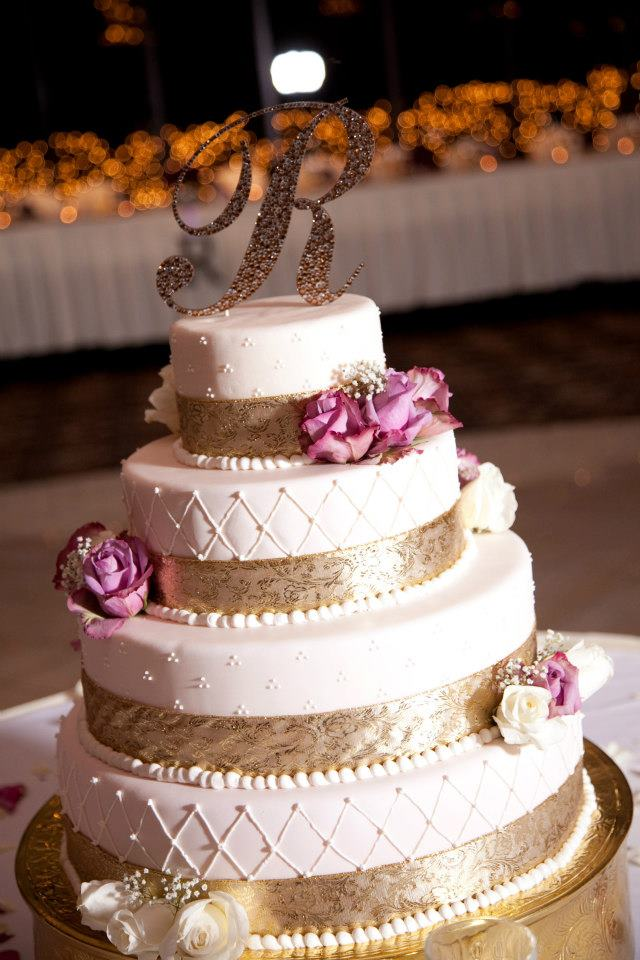 10 Purple And Gold Wedding Cakes Photo - Purple and Orange Wedding ...