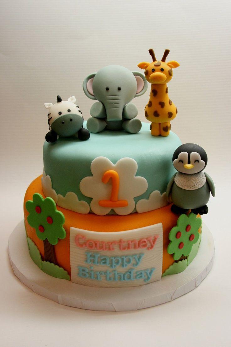 12 Baby Animal Birthday Cakes Photo Safari Animal Birthday Cake