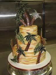 Wondrous 12 Palm Tree Wedding Cakes Photo Palm Tree Birthday Cake Palm Birthday Cards Printable Trancafe Filternl