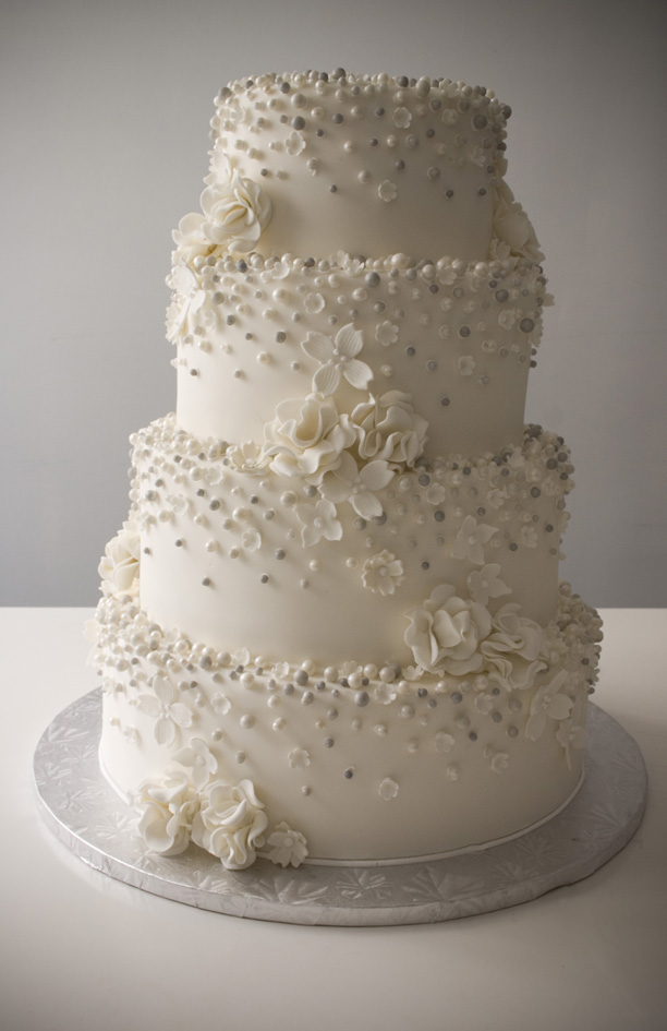 wedding cakes with pearls and lace - 5000+ Simple Wedding Cakes