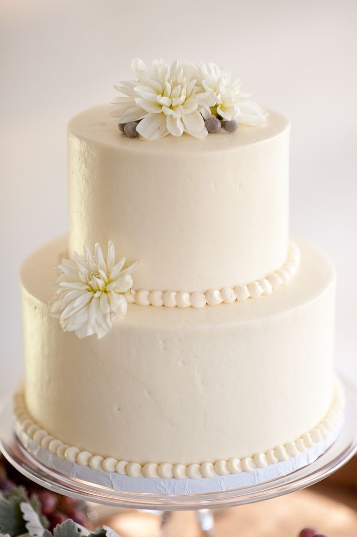 12 Plain Two Layer Wedding Cakes Photo Simple Two Tier Wedding