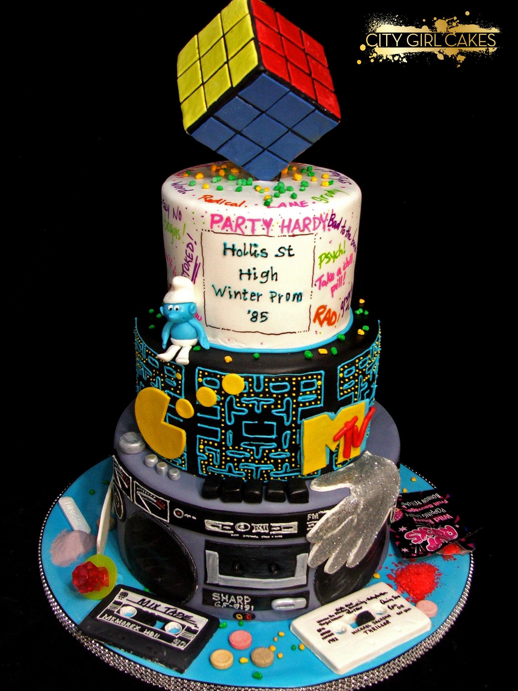 Stupendous 8 80S Celebration Cakes Photo 80S Theme Cake Ideas Happy Birthday Cards Printable Riciscafe Filternl