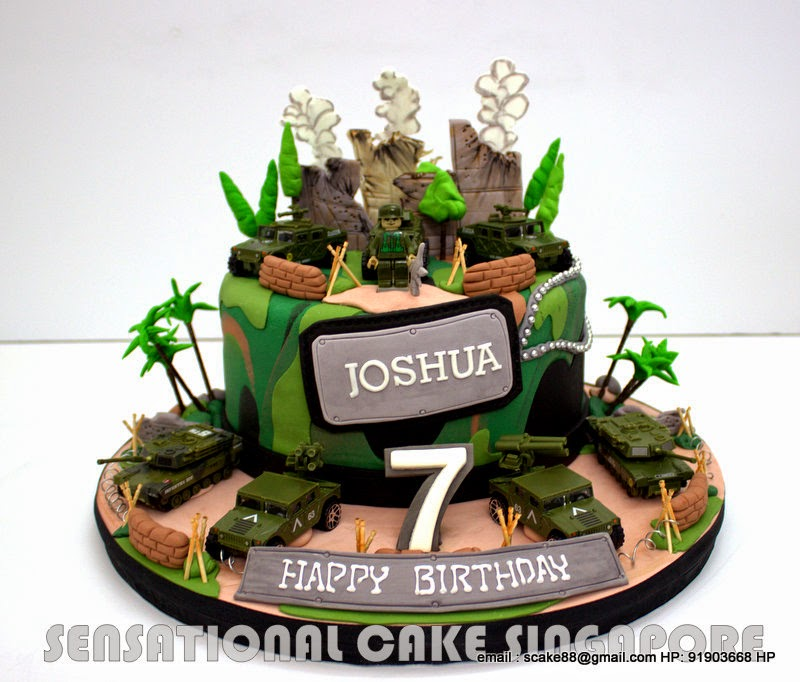 13 Army Camouflage Birthday Cakes For Boys Photo Army Theme
