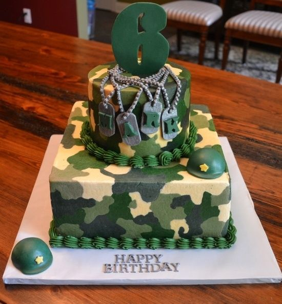 Sensational 13 Army Camouflage Birthday Cakes For Boys Photo Army Theme Funny Birthday Cards Online Overcheapnameinfo