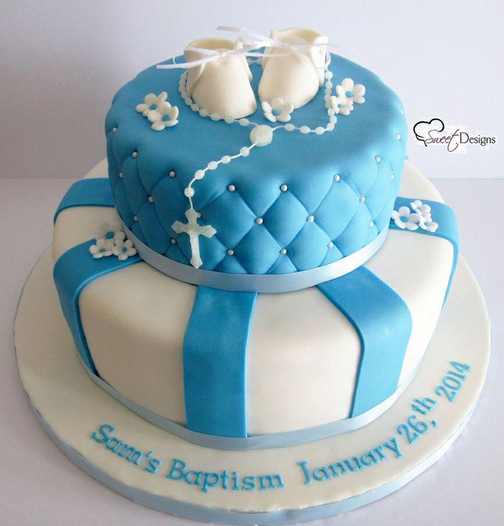 10 fondant christening cakes for boys photo baby boy baptism cake