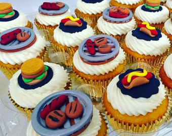 BBQ Picnic Cupcake Picks