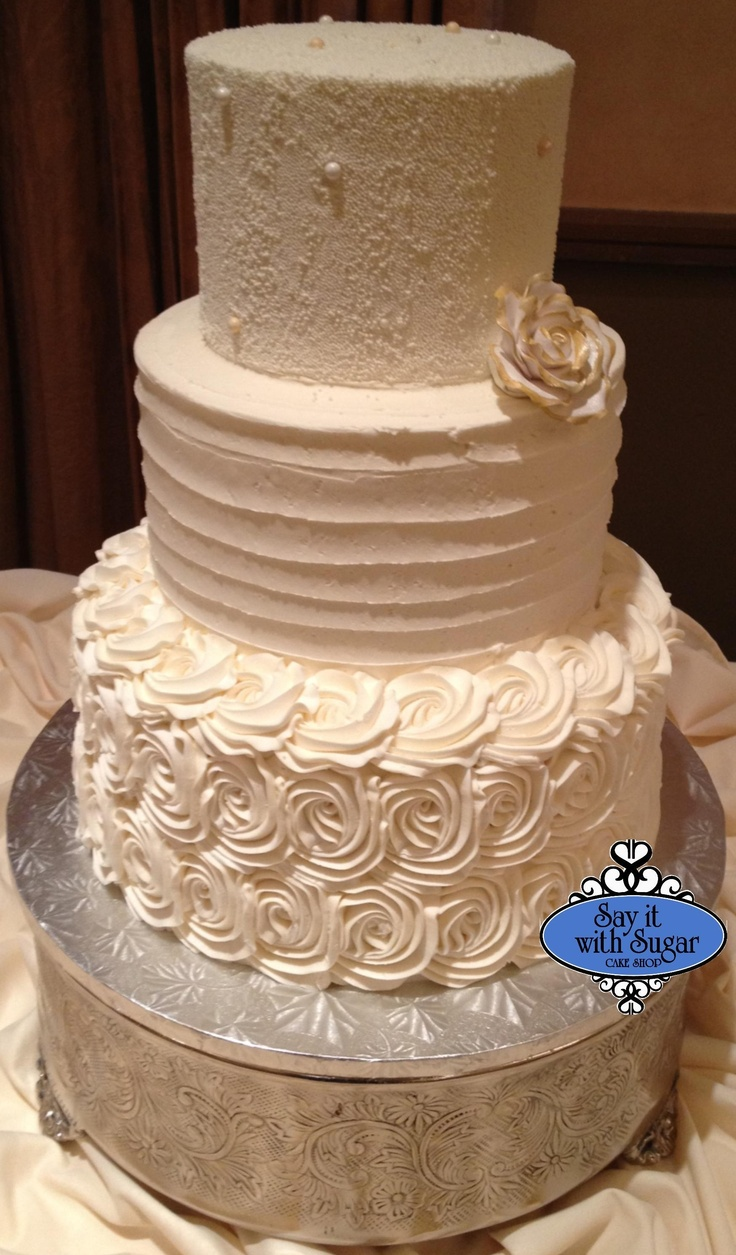 Buttercream Wedding Cake Designs