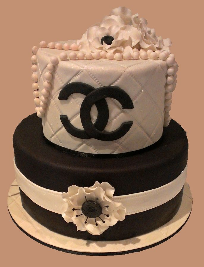 13 Coco Chanel Cakes Photo Chanel Birthday Cake Coco Chanel