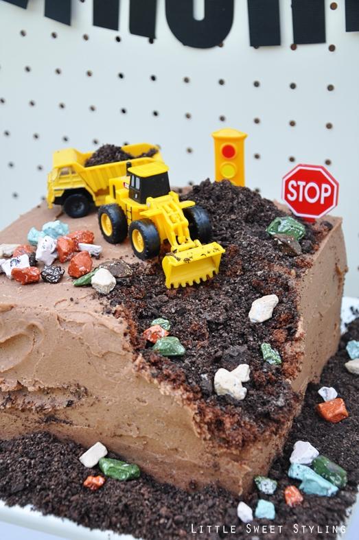 9 Boy Construction Birthday Cakes Ideas Photo Construction