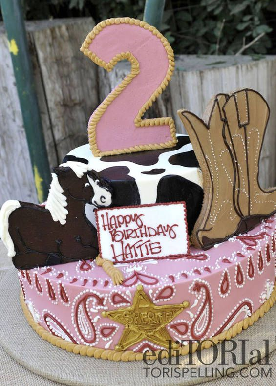 Prime 13 Birthday Cakes Western Themed In Pinks Photo Western Cowgirl Funny Birthday Cards Online Barepcheapnameinfo